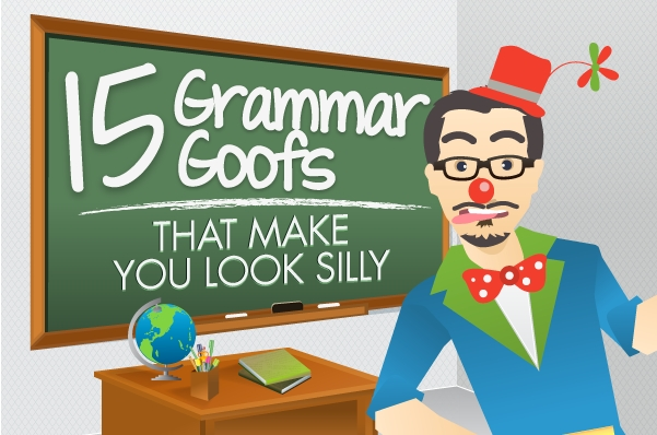 Bad Grammar can make you look like a clown